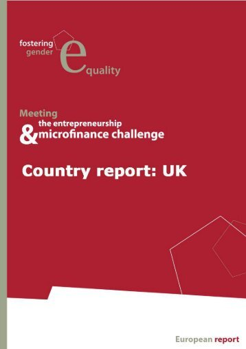 Gender Equality National Report UK - European-microfinance.org