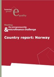 Gender Equality National Report Norway - European-microfinance.org