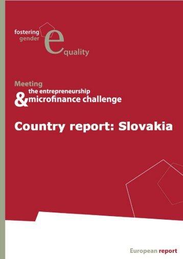 Gender Report SK - Réseau Européen de la Microfinance