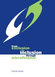 From exclusion to inclusion through microfinance