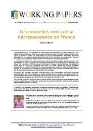 Les nouvelles voies de la microassurance en France