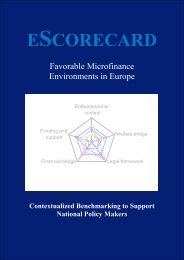 ESCORECARD - European-microfinance.org