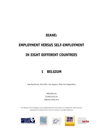 employment versus selfjemployment in eight different countries 1 ...
