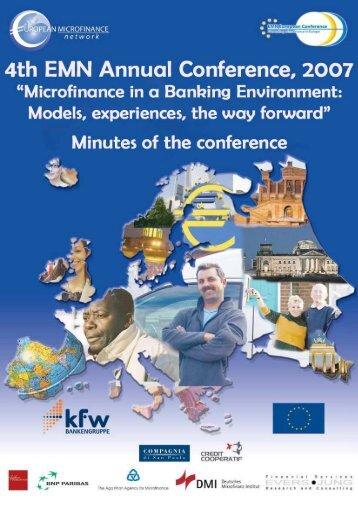 Minutes of the Conference - Réseau Européen de la Microfinance