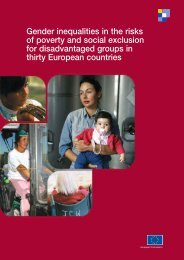 Gender inequalities in the risks of poverty and social exclusion for ...