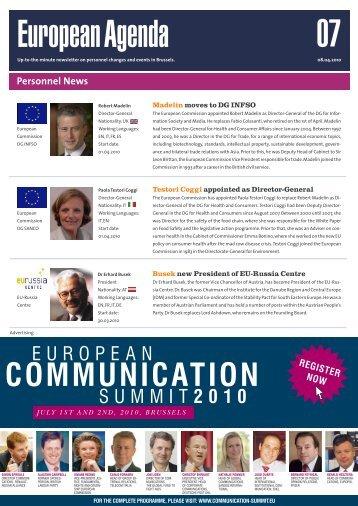 08 Apr 10 - European Agenda