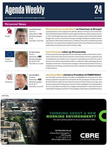 26 Jun 08 - European Agenda