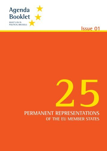 25 Permanent Representations - European Agenda