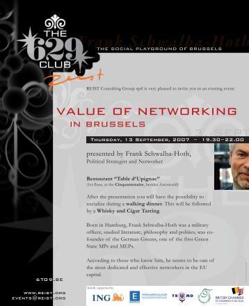 value of networking - European Agenda