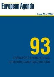 transport associations, companies, and institutions - European Agenda