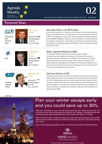 07 Jan 08 - European Agenda
