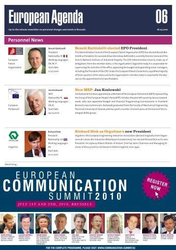 18 Mar 10 - European Agenda