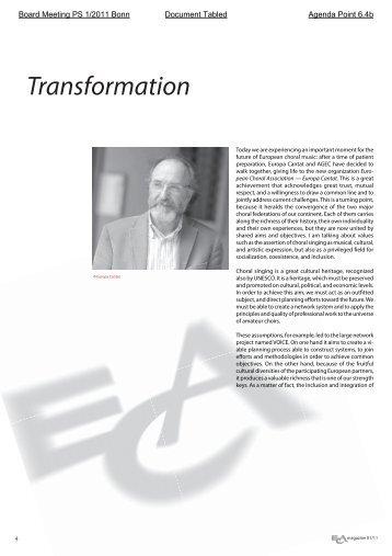 ECmagazine 1 11.indd - European Choral Association - Europa ...
