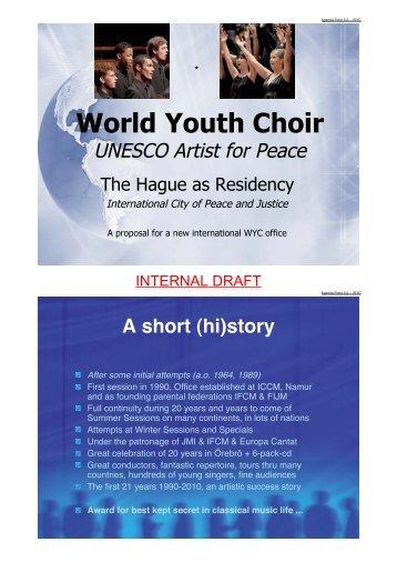 World Youth Choir - European Choral Association - Europa Cantat