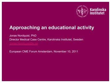 Approaching an educational activity - European CME Forum