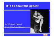 It is all about the patient It is all about the patient ...