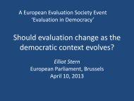 Presentation 2 - European Evaluation Society