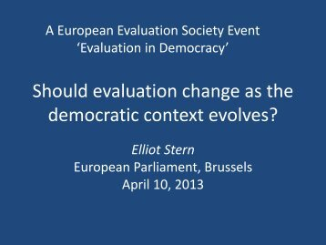 Presentation 2 - European Evaluation Society