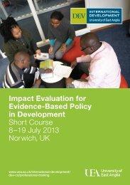 Impact Evaluation short course