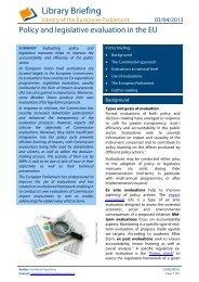 Policy and legislative evaluation in the EU - European Evaluation ...