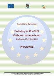 Final programme - European Evaluation Society