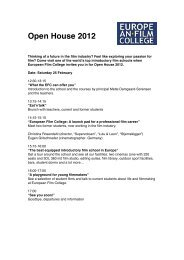 Open House 2012 - The European Film College