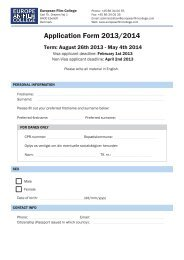 Application Form 2013/2014 - The European Film College