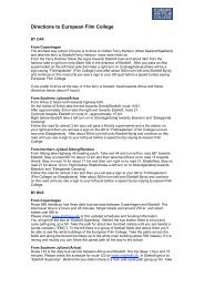 print directions as pdf - The European Film College
