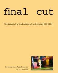 yearbook 2004/05 - The European Film College