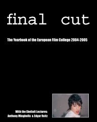 The Yearbook of the European Film College 2004-2005