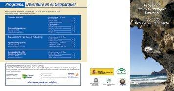 Programa: ¡Aventura en el Geoparque! - European Geoparks Network