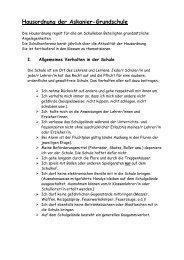 Hausordnung der Askanier-Grundschule