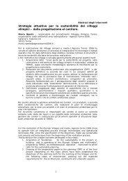 Strategie attuative per la sostenibilità dei villaggi olimpici – dalla ...