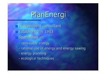 PlanEnergi - European Green Cities Net