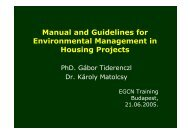 Adapted Manual and Guidelines for Environmental management in