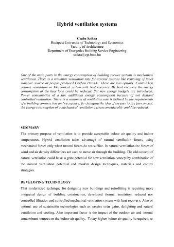 Hybrid Ventilation System : Articlesfigure diagram