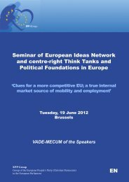 Vademecum of the speakers - European Ideas Network