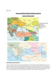 May 2012 Security in the Black Sea Region: Main Risks and Threats ...