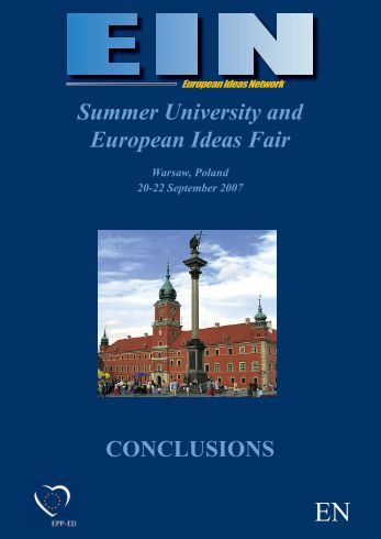 Summer University and European Ideas Fair CONCLUSIONS