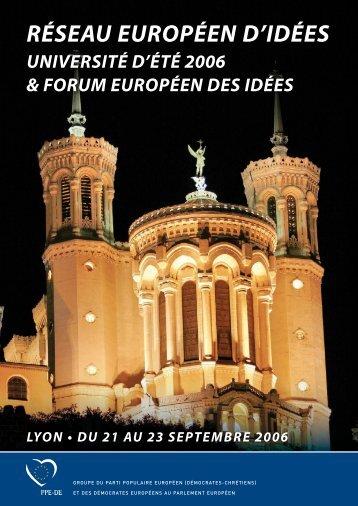 RÉSEAU EUROPÉEN D'IDÉES - European Ideas Network