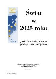 Jakie działania powinna podjąć Unia Europejska - European Ideas ...