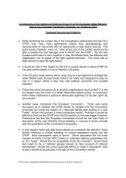 Conclusions of the meeting of Working Group IV of the European ...