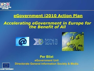 eGovernment i2010 Action Plan Accelerating eGovernment in ...