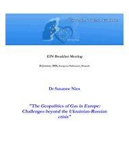 The Geopolitics of Gas in Europe: Challenges beyond the Ukrainian ...