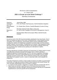 2020: Is Europe up to the Global Challenge - European Ideas Network
