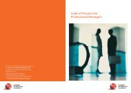 Code of Practice for Professional Managers - European ...