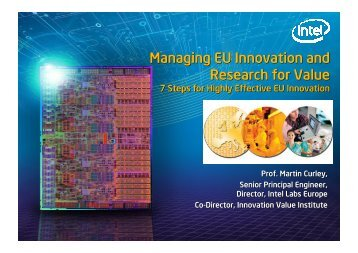 Managing EU Innovation and Research for Value ... - European Voice