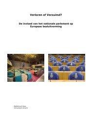 S. de Geus - Verloren of Verzuimd? - Europese Beweging