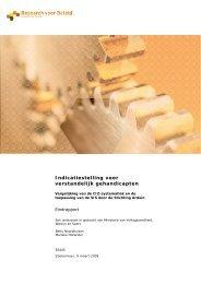 Indicatiestelling voor verstandelijk gehandicapten - Nederlandse ...
