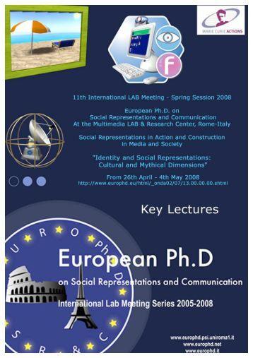 Investigating Social Representations and Identities - European ...